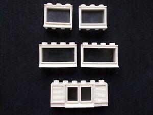 Lego-VINTAGE-windows-x-5-1950s-1960-039-s-WHITE