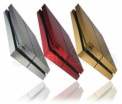 Polished Chrome Metal Skin Sticker For SONY PLAYSTATION 4 PS4 Wrap Cover Decal