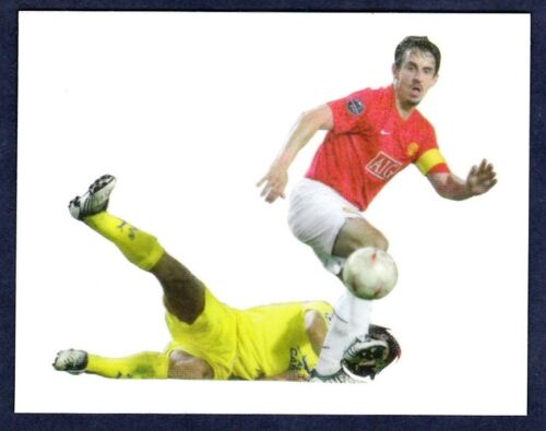 PANINI MANCHESTER UNITED 2008//09 #024-GARY NEVILLE IN ACTION