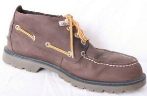 Sperry-Top-Sider-10087-Lug-Brown-Leather-Top-Boat-Shoe-Boot-Chukka-boot-Mens-8M