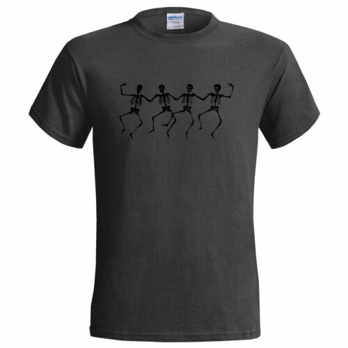 Dansant squelettes hommes t shirt trick traiter fête squelette déguisement halloween