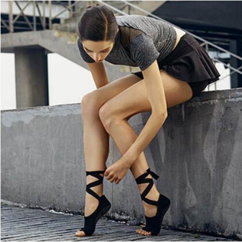 Yoga Socks Soft Barre Dance Ballet Non Slip Toeless Half Toe Grip Socks LA