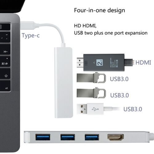 Type-C USB C to 4K HDMI USB 3.0 SD TF Card Reader 4 In1//5 In1//6 In1 Hub Adapter
