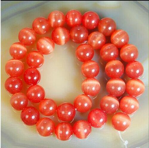 8-10mm Orange Mexican Opal Gemstone Round Loose Beads 14/'/' AAA