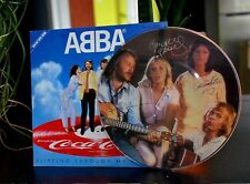 "ABBA Picture Disc 45t ""slipping trought my fingers"" Coca Cola"