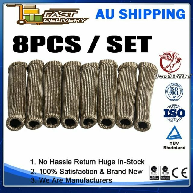 2500° Titanium Spark Plug Wire Sleeve Boot Heat Shield Protector For LS1/LS2/LS4