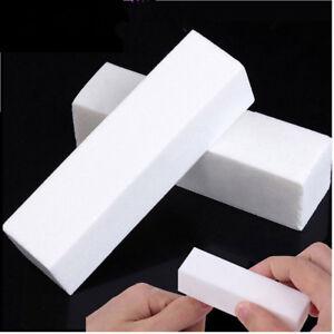 10-Blanco-Unas-De-Acrilico-Manicura-Puntas-Tampon-Archivos-de-bloque-de-Lijado-herramienta-vendedor