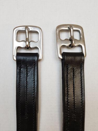 schwarz mit Nylon verstärkt nilo Leder Steigbügelriemen