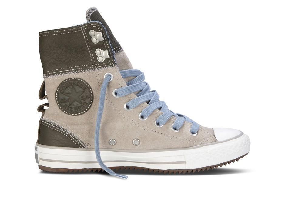 Converse ELSIE Rolldown Grau Suede Stiefel Schuhes NWT Knit Lining Hook Eye NWT Schuhes Wms 8.5 82b605