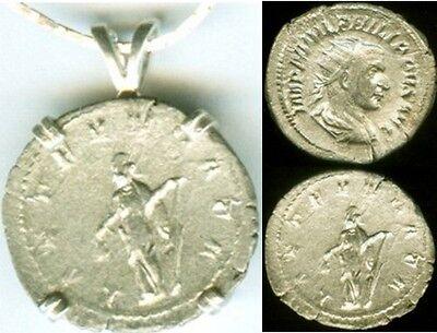 AD244 Silver Roman Denarius Coin Emperor Philip the Arab + Joy Goddess Laetitia