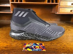 a8ae4042598a1 Adidas AlphaBounce 5.8 Zip Mens Running Shoes Black White BW1386 NEW ...
