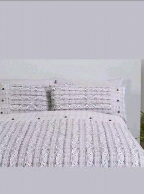 Bergen 100/% Brush Cotton Flannelette Duvet Set Double Cheapest On