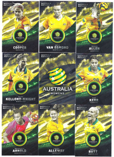 WOMENS SOCCER  ~ Tap N Play soccer Matilda/'s complete 20 card base set