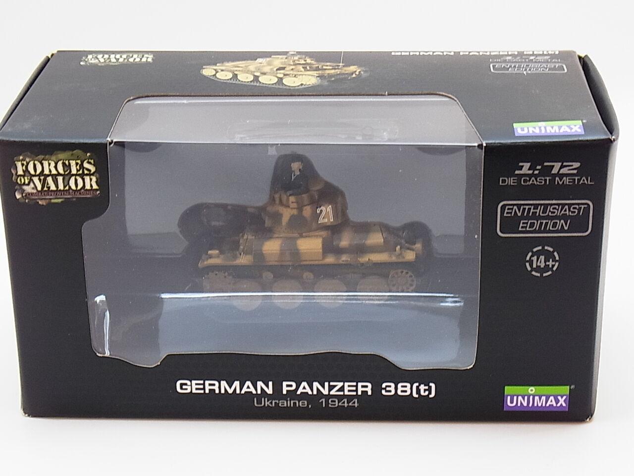 LOT 32421   Forces of Valor Ger. Panzer 38(t) Ukraine 1944 Die-Cast 1 72 NEU OVP