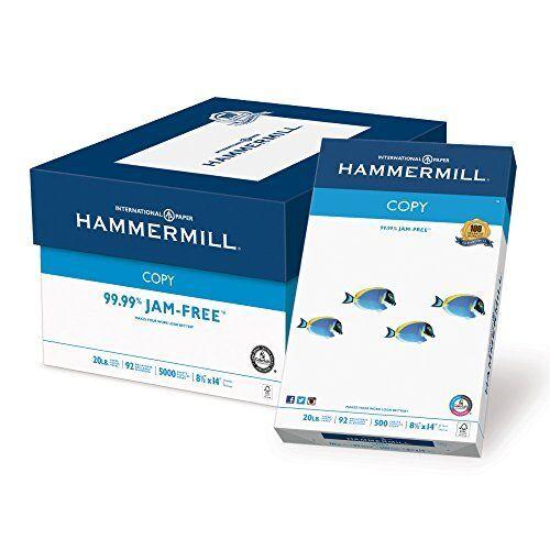 Hammermill Paper, Copy Paper Poly Wrap, 20lb, 8.5 x 14, 5000 Sheets