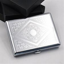 1 X Blunt Metal Cigarette Case for 20 Cigarettes Tobacco Case Box Chrome Brushed