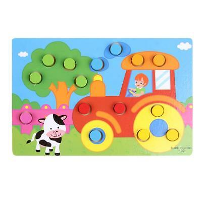 Color Cognition Board Educational Toys Kids Wooden Match Game Developmental Toys