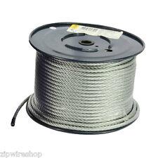 50 m de Galvanizado 8 Mm con cremallera Cuerda de alambre / Cable - 7x19 Strand-Zip línea