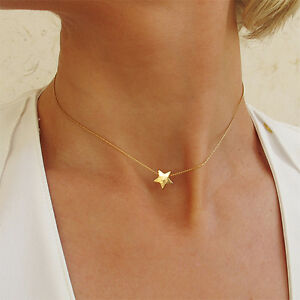 Gold star choker necklace 14k gold filled star pendant minimalist image is loading gold star choker necklace 14k gold filled star mozeypictures Gallery
