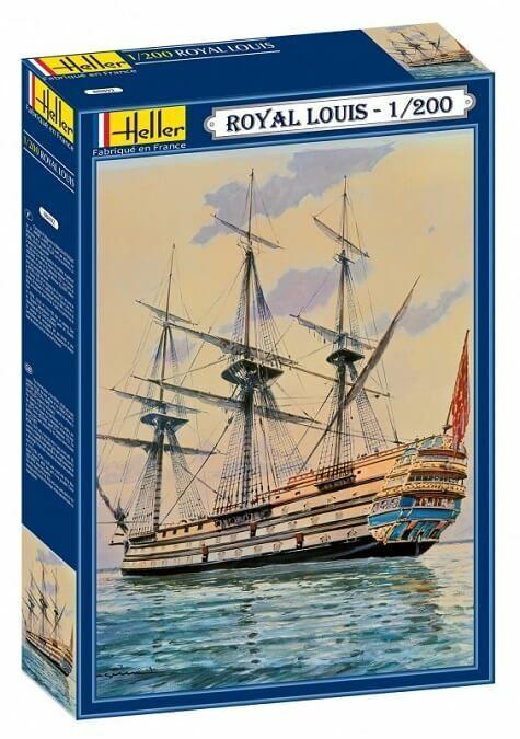 Heller 1 200 Le Real Louis Barco de Vela Maqueta Plástico en Kit 80892 Hlr80892