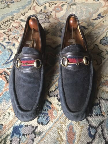 Gucci horsebit suede loafers 45 1/2 - image 1