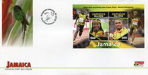 Jamaica 2016 FDC Rio 2016 Summer Games Olympics 2v M/S Cover Usain Bolt Stamps