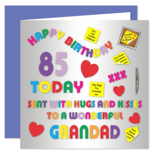 Age Range 50-85 Years Alphabet Design Grandad Happy Birthday Card