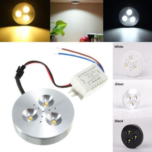 3W Kitchen LED Under Cabinet Lighting Kit Puck Lamp Bulb Energy Saving AC85-265V