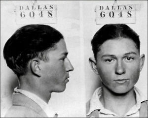 Clyde Barrow #1 Photo 8X10 - 1926 Dallas Mugshot Bonnie