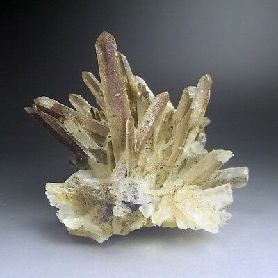 1.6LBS Quartz Crystal Cluster w/ Hematite, China-q1012