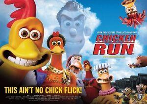 Chicken Run Repro Film POSTER Land