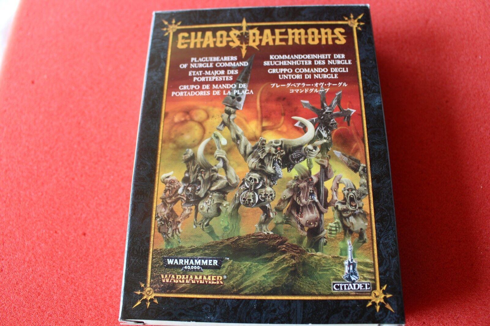 Juegos taller Warhammer demonios de comando Plaguebearers de Nurgle Nuevo Metal GW