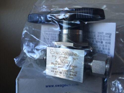 Tube Fitting 2500 PSIG Swagelok SS-44S10MM Ball Valve
