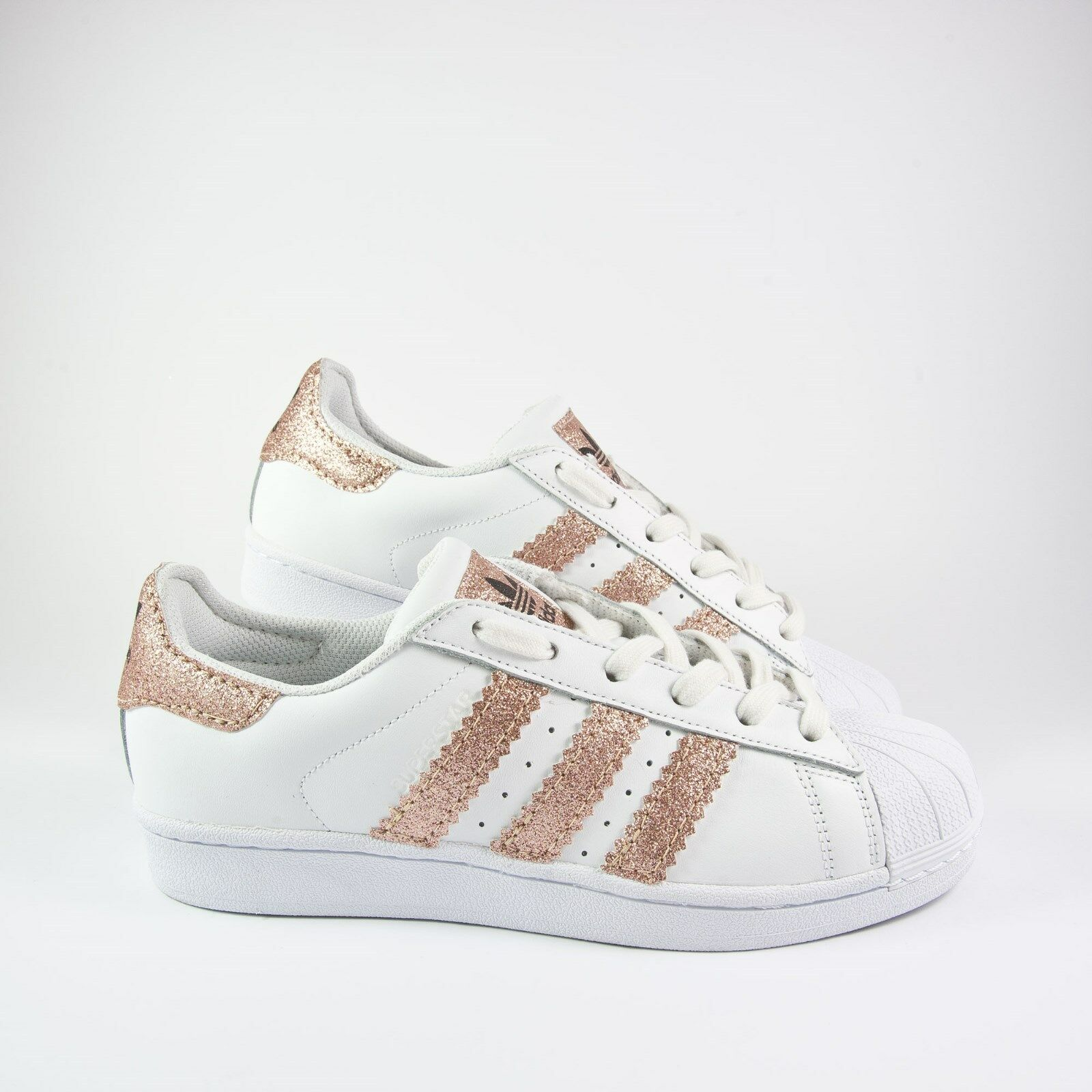 shoes Adidas Superstar with Glitter Pink