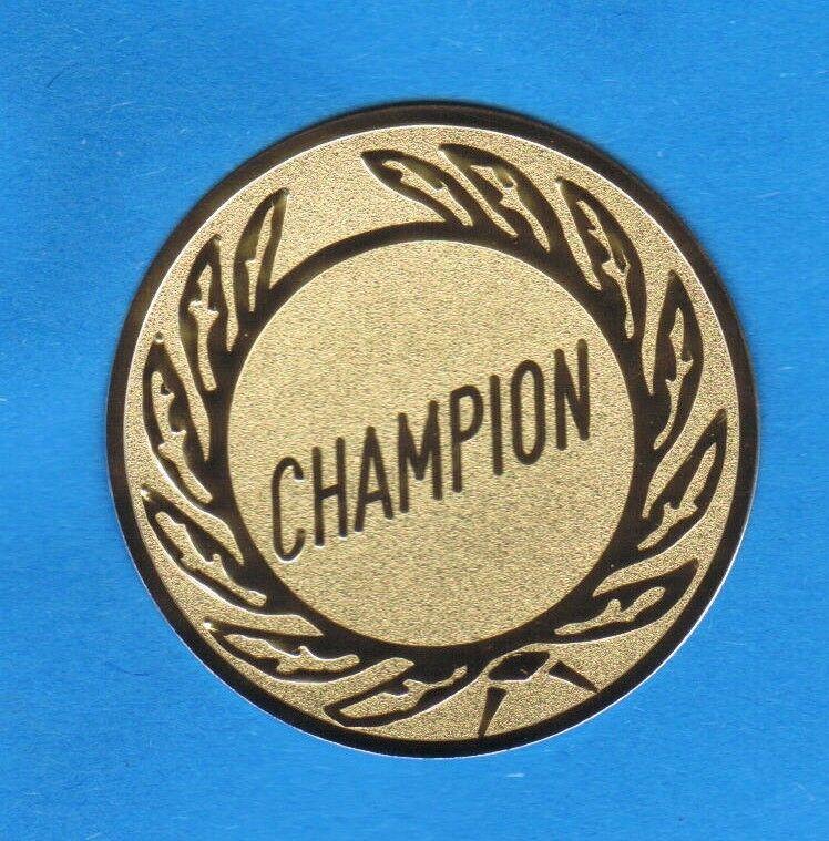 100 Embleme Embleme Embleme D 50mm Champion Neutrales Emblem (Sport Emblem für Medaillen Pokale) 2a8142