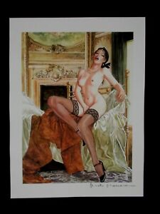 "Milo Manara ( Art Print ) "" Le Sofa 2 "" , Belle signature au crayon"