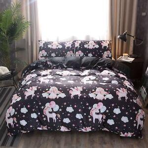3D-Balloon-Unicorn-Kids-Bedding-Set-Duvet-Cover-Pillowcase-Comforter-Quilt-Cover