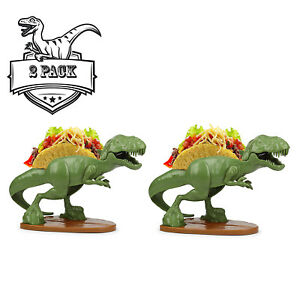 Image is loading TACOsaurus-Rex-Taco-Holder-2-PACK-Dinosaur-T-  sc 1 st  eBay & TACOsaurus Rex Taco Holder 2 PACK Dinosaur T-Rex Party Plates ...