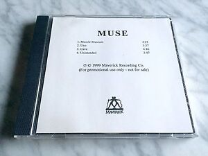 MUSE-Muscle-Museum-CD-1999-Maverick-EP-Advance-PROMO-4-TRACK-Disc-EXTREMELY-RARE