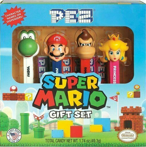 2017 Nintendo Super Mario 4 Character Collectible Pez Candy