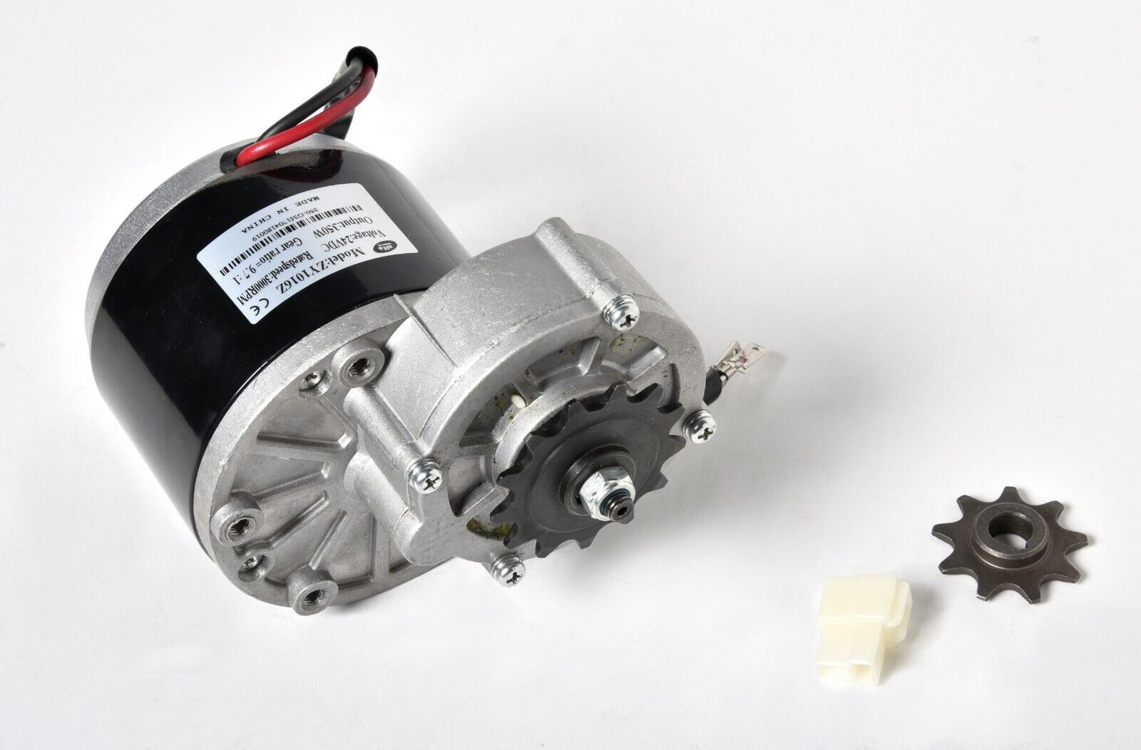 350W Gear Face Mount 24 Volt DC electric motor For bicycle bike GoKart ZY1016z