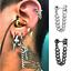 Cool-Men-Stainless-Steel-Chain-Dangle-Ear-Stud-Piercing-Earrings-Popular-Jewelry thumbnail 1