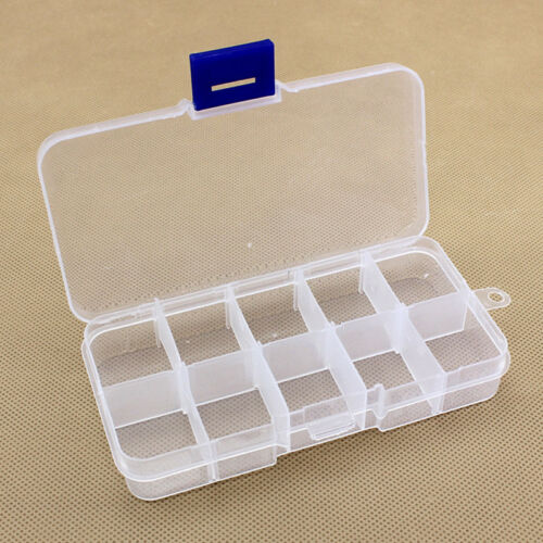 15//10//24 Slots Adjustable Jewelry Plastic Storage Box Case Craft Organizer Bead