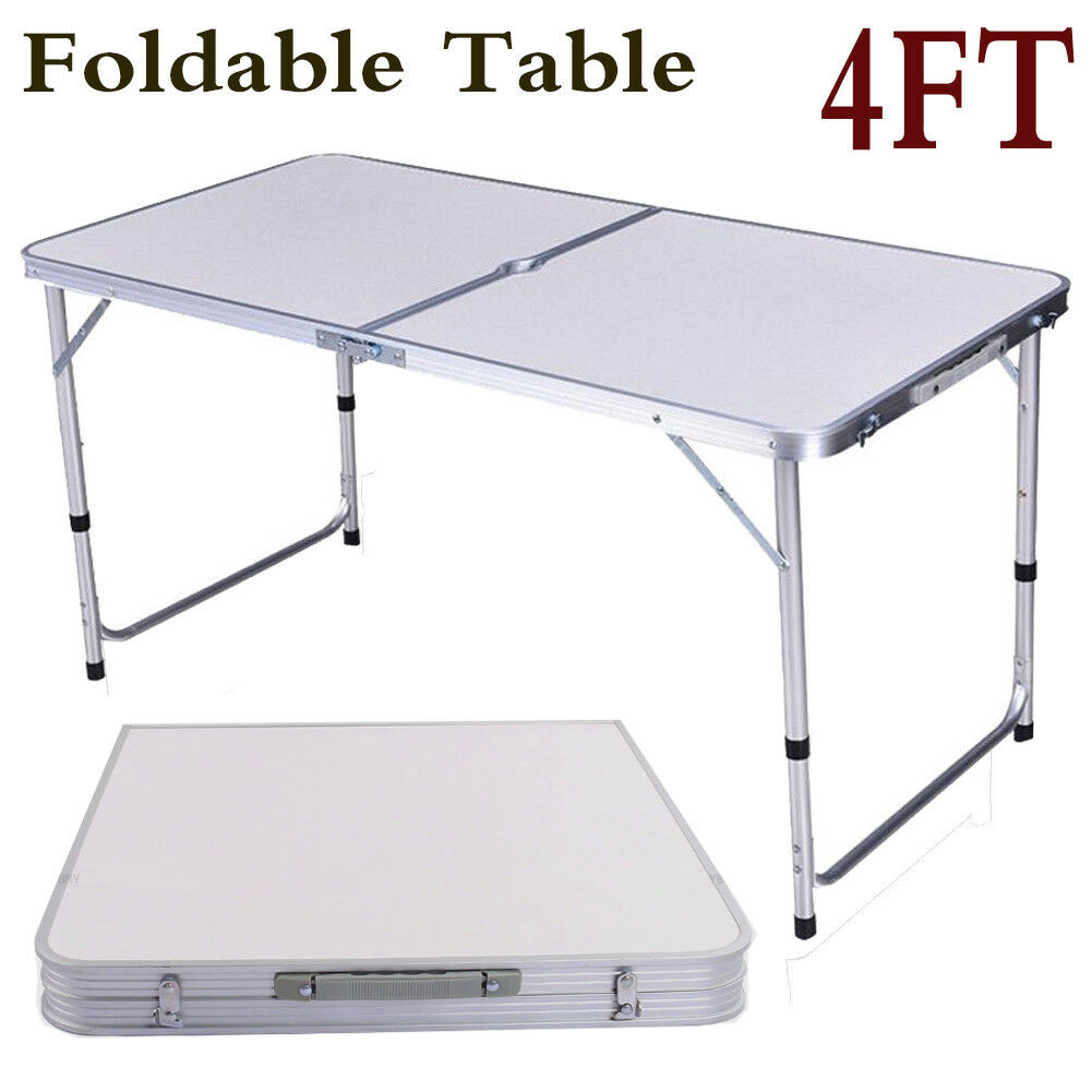 NEW Folding 2/4/8FT Folding NEW Outdoor Camping Hobby Home Garden Kitchen Work Laptop Tables 4656c3