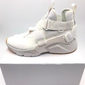 Nike-Air-Womens-Huarache-City-Sneakers-White-AH6787-104-Mid-Top-Hook-Loop-5M-New