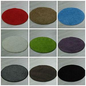teppich addis abeba 133 cm rund 67 cm rund in verschiedene farben gr n grau ebay. Black Bedroom Furniture Sets. Home Design Ideas