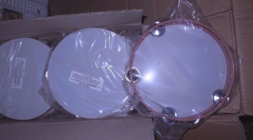 NWT Lot of 12 Plastic Tambourines Dance Theatrical 4 plates  8 inch size
