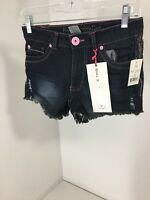 Freestyle Revolution Big Girls Jean Shorts Deep Water Wash Sz 12 $36