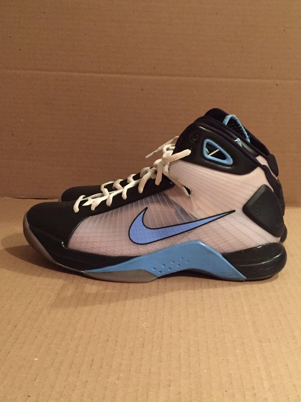 (2008) Nike Hyperdunk 324820-041 Size 11 Black University bluee White TAR Olympic