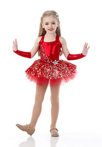 Swing On A Star Dance Costume Red Ballet Tutu and Headpiece Tap Dress Clearance
